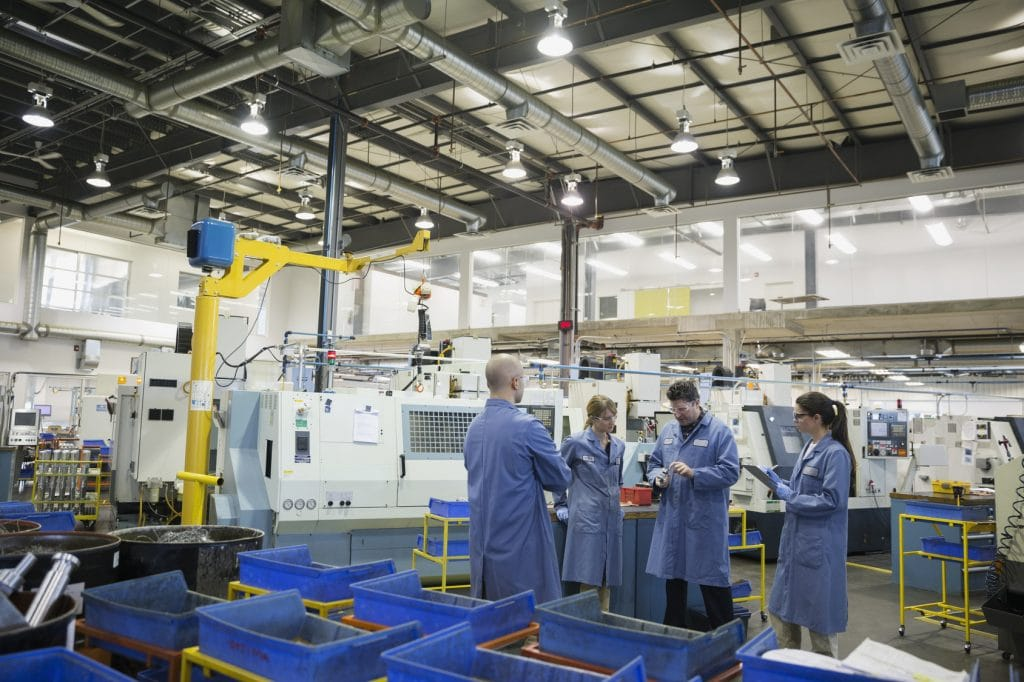 Mit PLE vollautomatische Lieferung der Komponenten an die Montagelinie